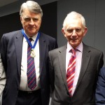 Dr Emyr Benbow (Chairman), Dr Kieran Moriarty (President), Sir Ian Gilmore (speakers), Dr Chris Daly (Hon Secretary)